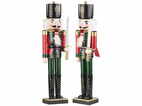 """2 casse-noisettes décoratifs """"Soldat"""" 48,5 cm"""