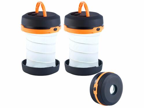 2 lanternes de camping repliables