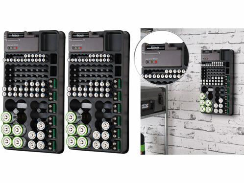2 organiseurs pour 98 piles avec testeur
