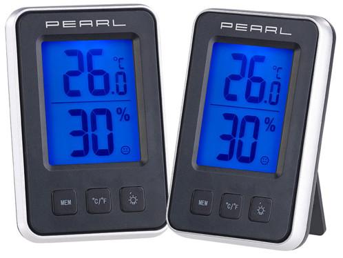 2 thermomètres et hygromètres numériques avec écran LCD