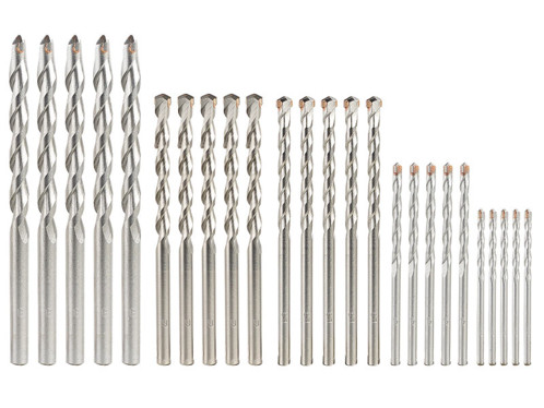 Lot de 25 forets à béton de 3 à 8 mm pour perceuse AGT.