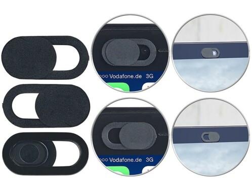3 caches pour webcam d'ordinateur portable autoadhésifs - Plastique
