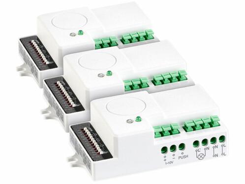 Lot de 3 détecteurs de mouvement Revolt à micro-ondes.