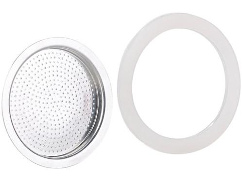 Pack avce 3joints et 1 filtre pour cafetière italienne design Cucina Dimodena.