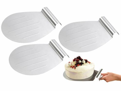 3 pelles à tarte en acier inoxydable