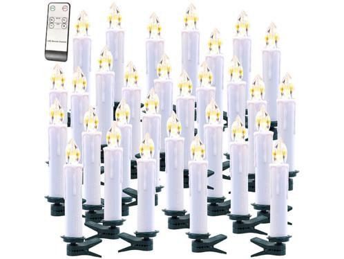 Lot de 30 bougies à LED modèle XMS-35.r Lunartec.