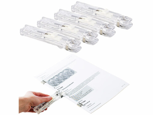 4 agrafeuses pour pinces à clipser Maxi Pinces