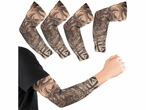 "4 manchettes au look tatouages motif ""Wild Tribal"""