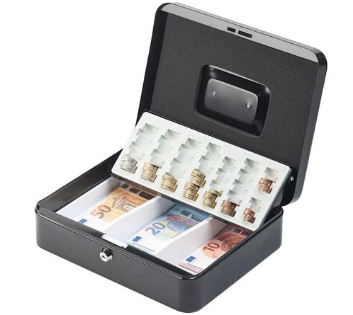 Caisse à monnaie en acier - 30 cm