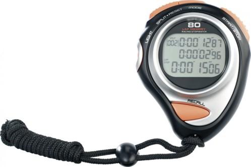 Chronomètre sport avec écran 3 lignes - Premium