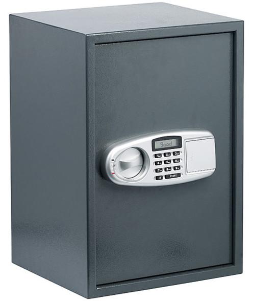 coffre fort en acier poudré anti forcage avec ouverture code digital code pin ou clé de securité capacité 50l xcase