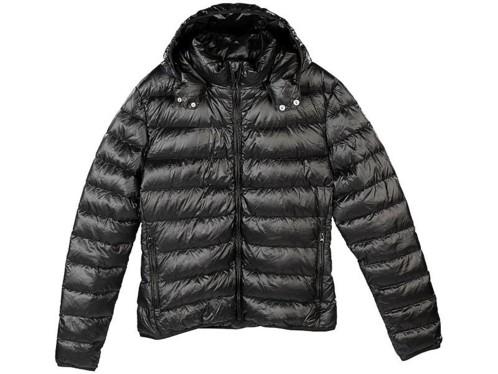 Doudoune ultralégère en duvet avec col montant et capuche - Noir - Taille S bff4180970a3