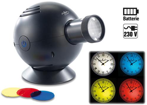 Horloge à projection lumineuse, 3 filtres