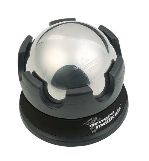 Masseur roll-on rafraîchissant en acier inoxydable, avec support à rotation 360°