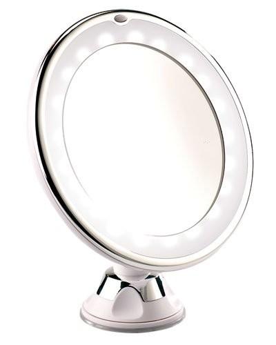 Miroir grossissant x5 avec ventouse ou pied et clairage for Miroir grossissant ventouse
