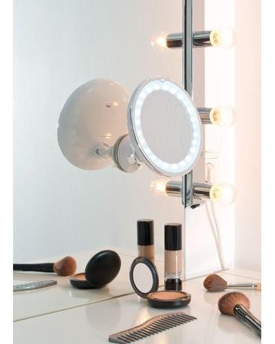 Miroir Grossissant Lumineux Led Avec Ventouse
