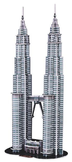 Puzzle 3D Tours Petronas de Kuala-Lumpur