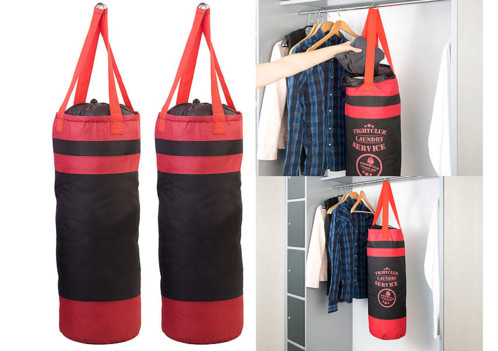 2 sacs à linge design sac de frappe avec cordon de serrage