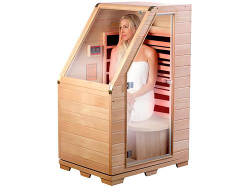 Sauna infrarouge compact en bois, 760 W