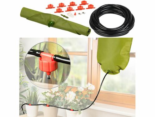 systeme d'irrigation complet compte gouttes pour 8 pots de fleurs avec reservoir eau 11 litres pour irrigation en vacances