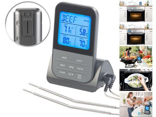 Thermomètre de cuisson sans fil avec 2 sondes XXL