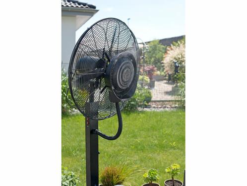 grand ventilateur professionnel avec brumisateur pour terrasses restaurants et grandes surfaces