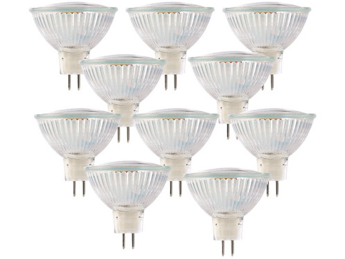 10 ampoules 39 LED SMD GU 5.3 -  blanc neutre