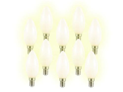 10 ampoules bougie à LED SMD - E14 - 3W - blanc chaud