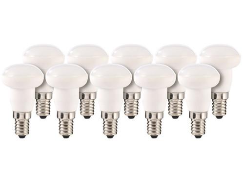 10 ampoules LED en céramique, 4 W, E14 - Blanc