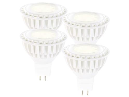 4 spots à LED High-Power, GU5.3, 5 W - blanc chaud