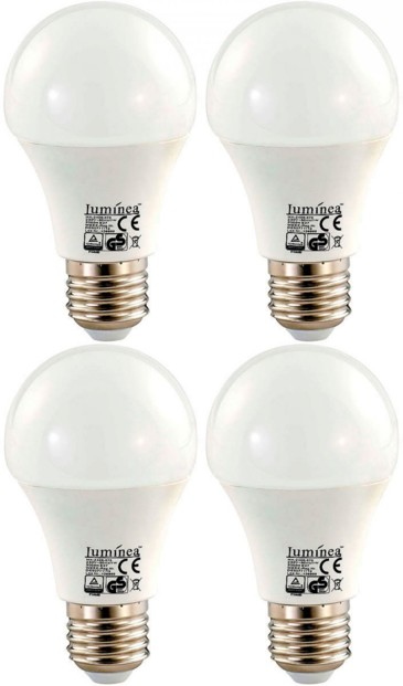 4x ampoule LED 7 W E27 Blanc chaud Luminea
