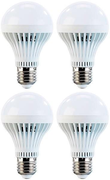 4x ampoule LED 7 W E27 Blanc Luminea