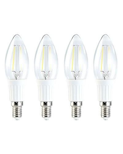 4x ampoule LED SMD Blanc Chaud, style bougie à filament