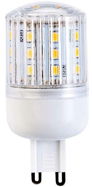 Ampoule compacte LED 3 W avec éclairage 360° - GU9 - Blanc chaud