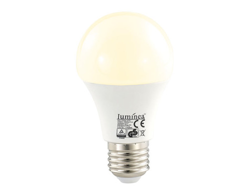 10 ampoules LED 7 W E27 Blanc chaud Luminea