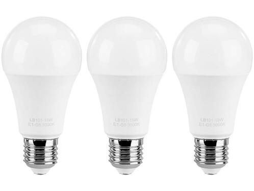 3 ampoules LED E27 High Power 15 W - Blanc chaud