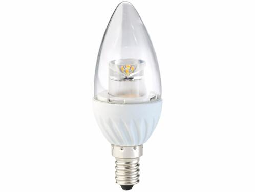 Ampoule LED ovale 4 W - E14 - Blanc chaud