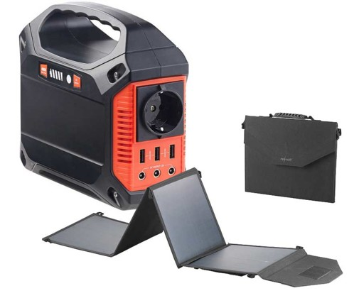 Convertisseur solaire & batterie nomade 42 Ah - avec Panneau 50 W pliable