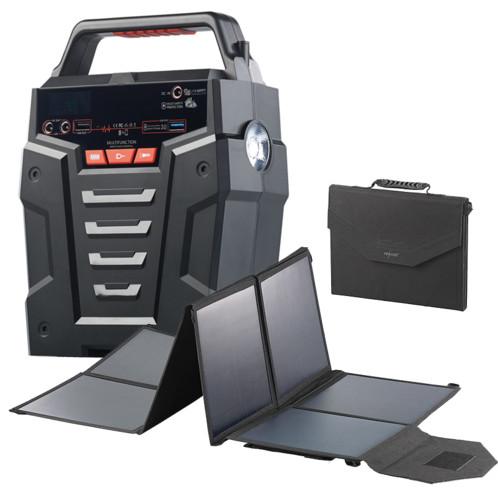 Convertisseur solaire & batterie nomade 75 Ah 230 V HSG-750 - Avec panneau 100 W