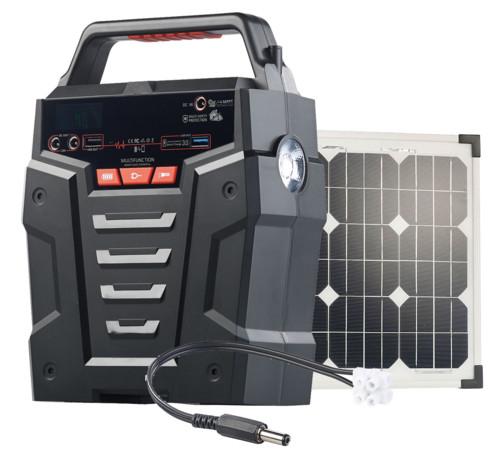 Convertisseur solaire & batterie nomade 75 Ah 230 V HSG-750 - Avec panneau 20 W