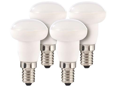 Lot de 4 ampoules LED avec réflecteur, 6 W, E14 - Blanc