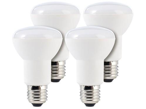 Lot de 4 ampoules LED avec réflecteur, 8 W, E27 - Blanc