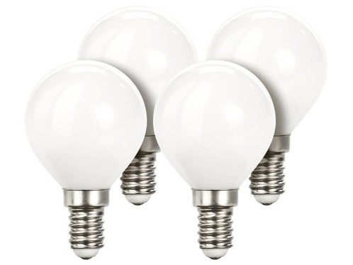 Lot de 4 ampoules LED look ''Retro'' - E14 - Blanc