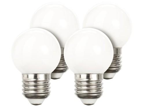 Lot de 4 ampoules LED look ''Retro'' - E27 - Blanc
