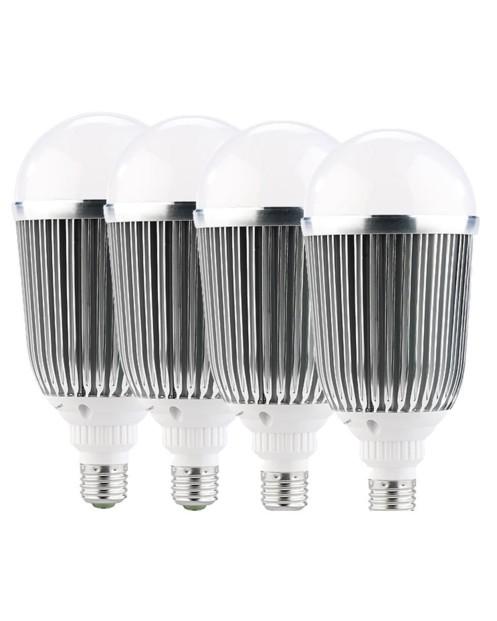 Lot de 4 ampoules LED XXL - E27 - 18 W - blanc