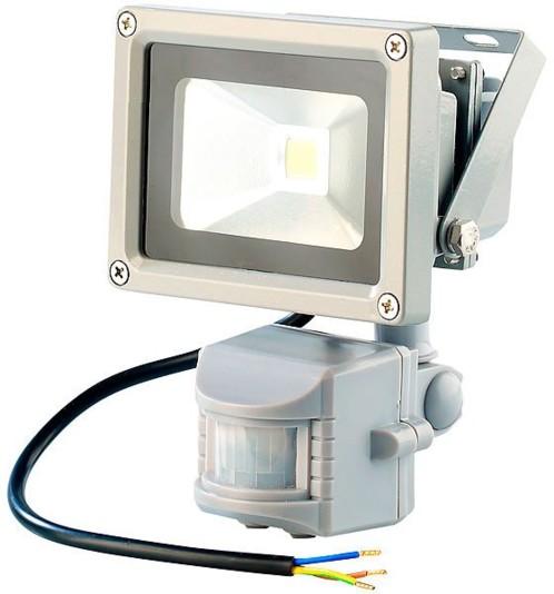 Projecteur étanche à LED avec capteur PIR - 50 W blanc chaud