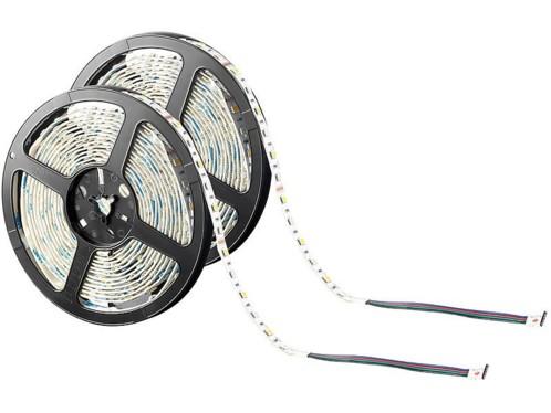 2 bandes lumineuses 300 LED SMD (RVB + blanc), 5 m ''LX-500N'' - intérieur
