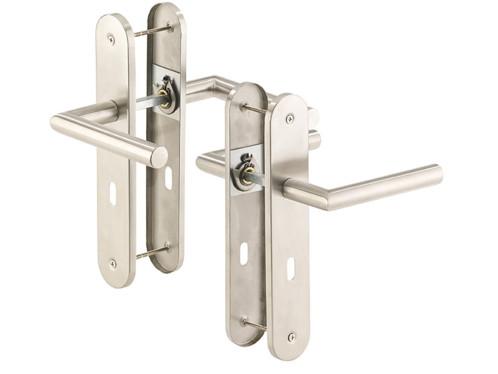 2 poignées de porte à plaque longue en acier inoxydable