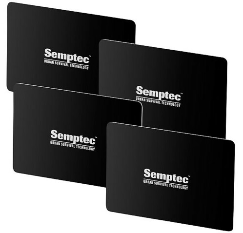 4 cartes de protection RFID & NFC format carte bancaire