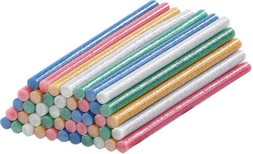 50bâtonnets de colle Ø11mm pour pistolet à colle - Multicolores à paillettes